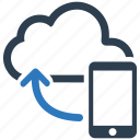 cloud, cloud computing, icloud, mobile, phone, share, storage icon
