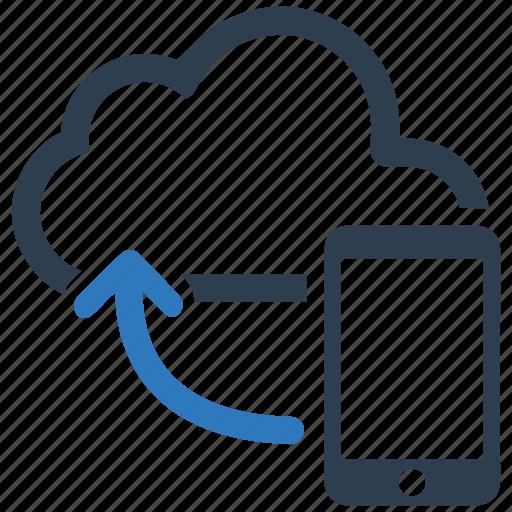 cloud, cloud computing, icloud, mobile, phone, share, storage icon