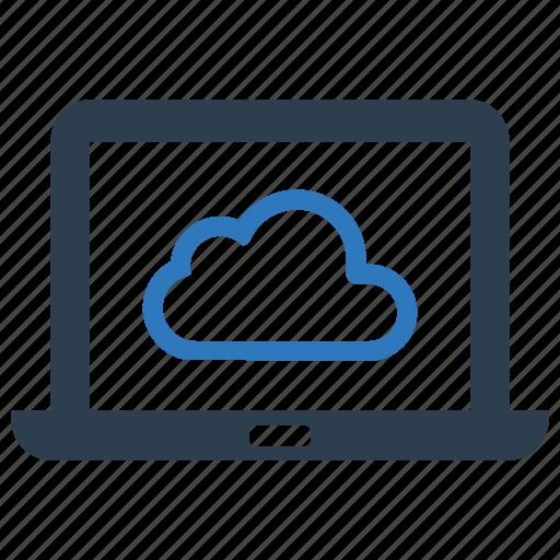 cloud, computer, laptop, online icon