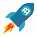 advertising, branding, development, rocket, spaceship icon