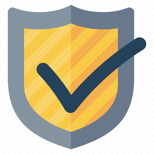 check mark, protection, security, shield icon