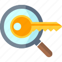 magnifier, search keyword, seo icon