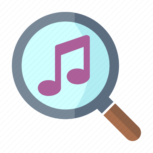 music, musical note, play, searching icon