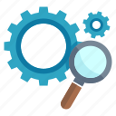 gear, optimization, search engine, seo icon