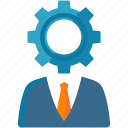 businessman, consultant, customer service, customer support, gear, help, internet marketing, optimization, search engine, seo icon
