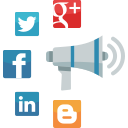 advertising, communication, internet marketing, megaphone, news, online marketing, seo, social media, web icon