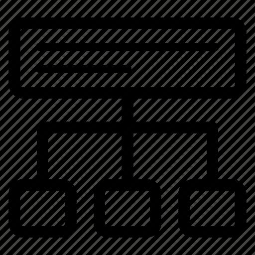 organization, sitemap, structure, website icon