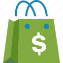 affiliate, ecommerce, marketing, shopping bag icon