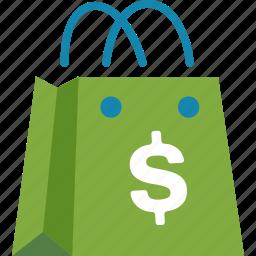 affiliate, ecommerce, marketing, shopping bag icon