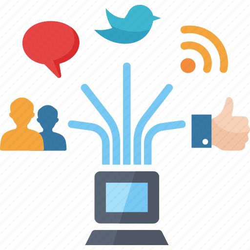 communication, connection, internet, social media, social networking icon