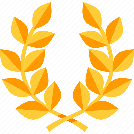 achievement, laurel wreath, victory icon