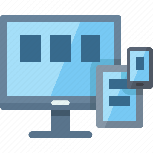 computer, connection, responsive, smartphone, tablet icon