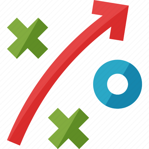 business goal, optimization, seo strategy icon