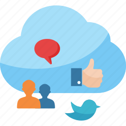 cloud computing, communication, connection, networking, social media icon