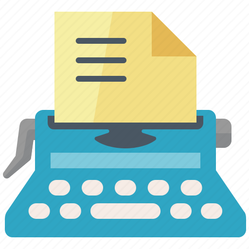 article, edit, internet, marketing, submission, typewriter, web content, writing icon