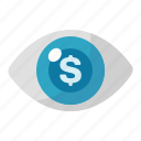 advertising, cost per impression, eye, marketing, seo icon