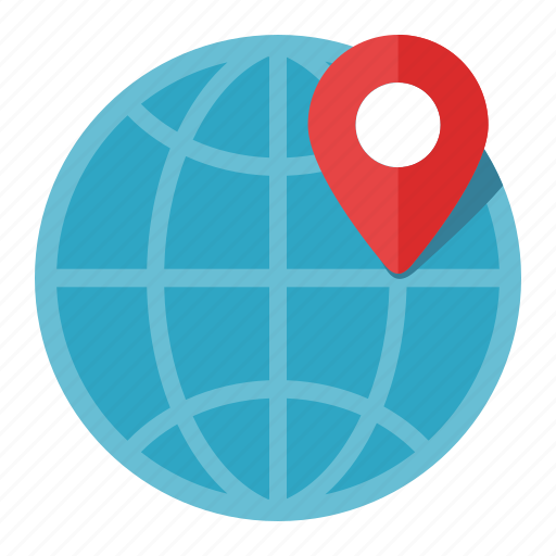 globe, gps, location icon