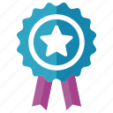achievement, award, badge, ribbon, winner icon