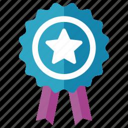 achievement, award, badge, ribbon, winner icon