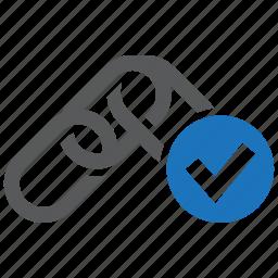 backlink, checked, checker, link, ok, seo, site icon
