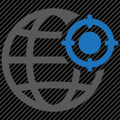 geo, globe, location, map, point, target, targeting icon