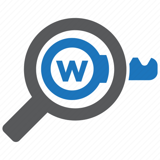 keyword, research, seo icon