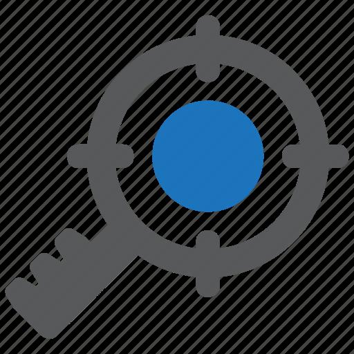 aim, customer, keyword, marketing, seo, target, targeting icon