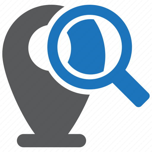location, map, search icon