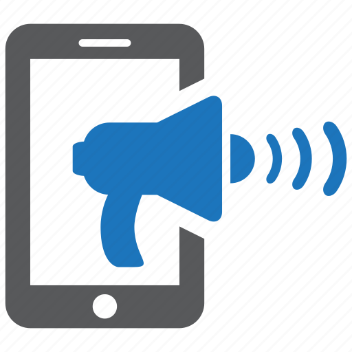 business, communication, loudhailer, marketing, megaphone, mobile, phone icon
