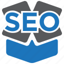 packages, seo, package icon