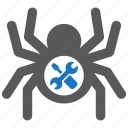 design, fix, maintenance, repair, software, spider, tool icon