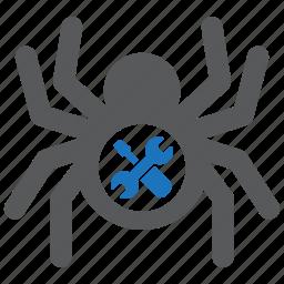 design, fix, maintenance, repair, software, spider, tool icon