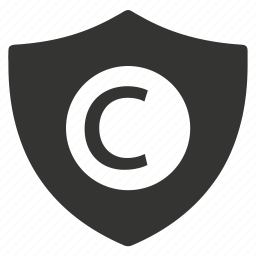 brand, copyright, protection icon