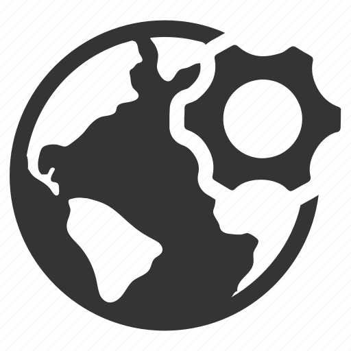 gear, global, network, settings icon