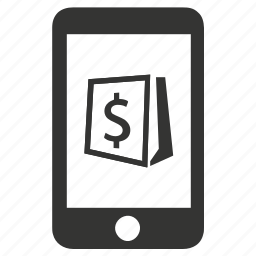 mobile, online store, shopping icon