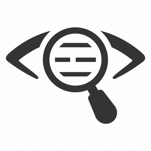proofreading, search report icon