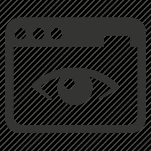 seo monitoring, web view icon