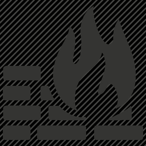 fire wall, firewall icon