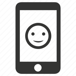 emoji, feedback, mobile, smile icon