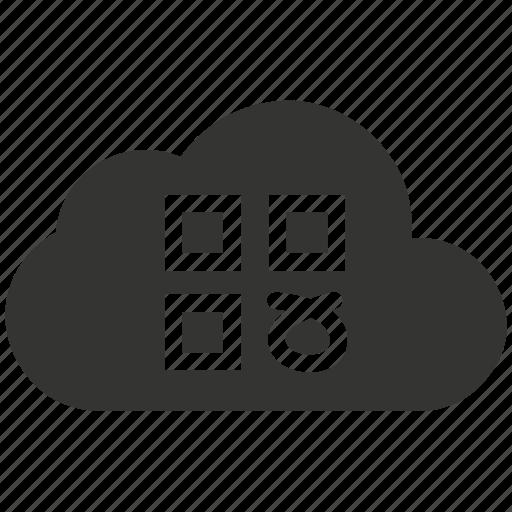 cloud, online, questionnaire, survey, web icon