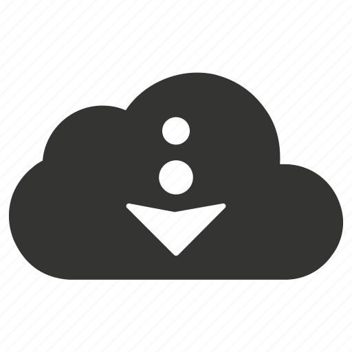 cloud, download, file, storage icon