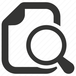 document, explore, file, find, search icon