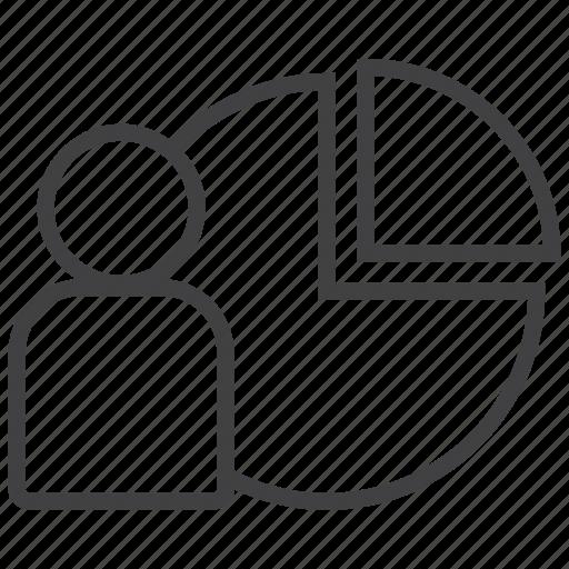 customer, market, niche, pie, research, segment, share icon