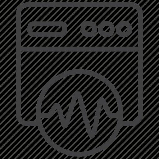 analytics, chart, data, diagram, graph, report, website icon