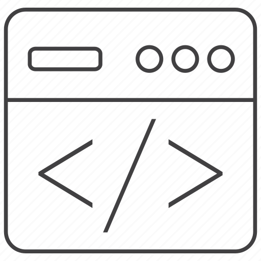 clean, code, coder, coding, development, html, web icon