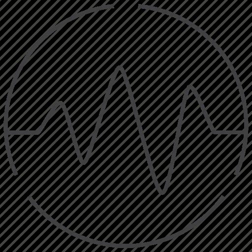 analysis, analytics, chart, graph, market, pulse, statistics icon