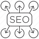 plan, planning, search engine optimization, seo, solution, tactics, way icon