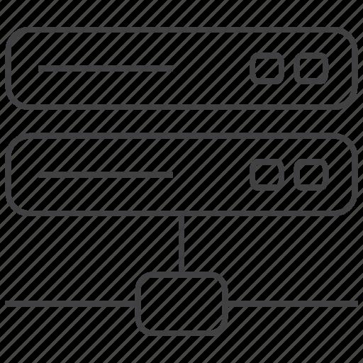 data, domain, host, hosting, server, web, website icon