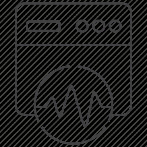 analytics, browser, chart, data, report, statistics, website icon