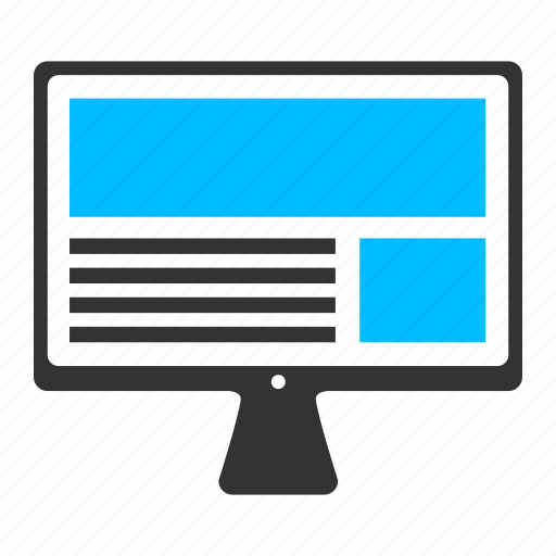 above the fold, blog, content writing, monitor, ui design, web page icon